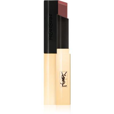 Yves Saint Laurent Rouge Pur Couture The Slim tenký zmatňujúci rúž s koženým efektom