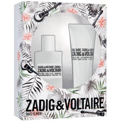Zadig & Voltaire This is Her! Gift Set VII. Eau De Parfum 30 ml + Body Milk 75 ml