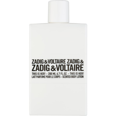 Zadig & Voltaire This Is Her! lotion corps pour femme