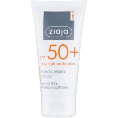 Ziaja Med Protecting UVA + UVB creme facial com cor SPF 50+