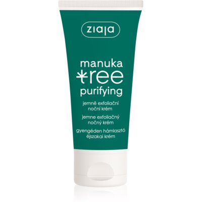Ziaja Manuka Tree Purifying creme exfoliante de noite para pele oleosa e mista