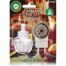 Air Wick Spread the Joy Fireside Cheer elektrický osviežovač vzduchu 19 ml s náplňou