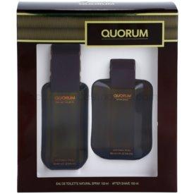 Antonio Puig Quorum darčeková sada I. toaletná voda 100 ml + voda po holení 100 ml