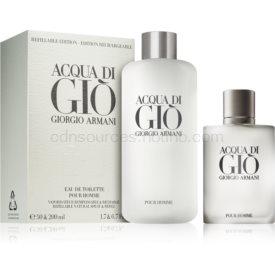 Armani Acqua di Giò Pour Homme darčeková sada IV. toaletná voda 50 ml + toaletná voda náplň 200 ml
