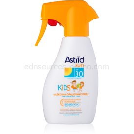 Astrid Sun Kids mlieko na opaľovanie v spreji pre deti SPF 30 200 ml