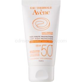 Avène Sun Mineral ochranný krém na tvár bez chemických filtrov a parfumácie SPF 50+ vodeodolný 50 ml