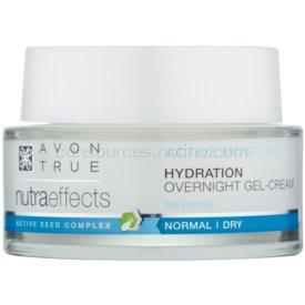 Avon True NutraEffects nočný gélový krém pre hydratáciu a vyhladenie pleti 50 ml