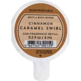 Bath & Body Works Cinnamon Caramel Swirl vôňa do auta 6 ml náhradná náplň