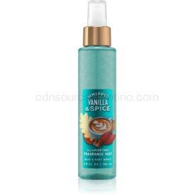 Bath & Body Works Whipped Vanilla & Spice telový sprej pre ženy 146 ml trblietavý