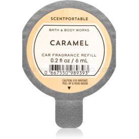 Bath & Body Works Caramel vôňa do auta náhradná náplň 6 ml