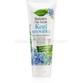 Bione Cosmetics Kozí Syrovátka balzam na ruky pre citlivú pokožku 205 ml