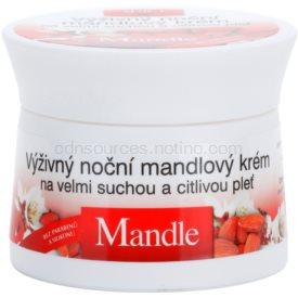 Bione Cosmetics Almonds výživný nočný krém pre veľmi suchú a citlivú pleť 51 ml