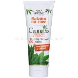 Bione Cosmetics Cannabis regeneračný a zvláčňujúci balzam na ruky 205 ml
