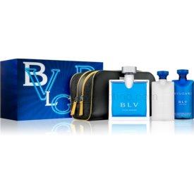 Bvlgari BLV pour homme darčeková sada III. toaletná voda 100 ml + sprchový gel 75 ml + balzam po holení 75 ml + kozmetická taška