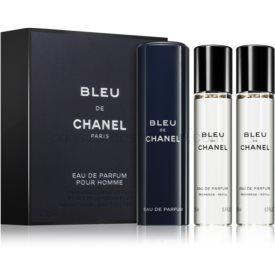 Chanel Bleu de Chanel parfumovaná voda (3 x náplň) pre mužov 3 x 20 ml