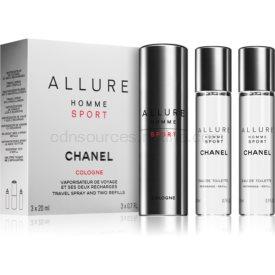 Chanel Allure Homme Sport Cologne kolínska voda ((1x plniteľná + 2x náplň)) pre mužov