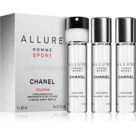 Chanel Allure Homme Sport Cologne kolínska voda (3 x náplň) pre mužov 3 x 20 ml