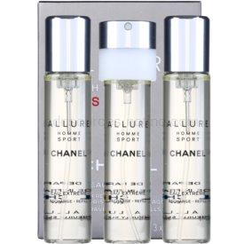Chanel Allure Homme Sport Eau Extreme parfumovaná voda náplň pre mužov 3 x 20 ml