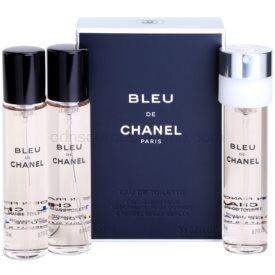 Chanel Bleu de Chanel toaletná voda náplň pre mužov 3 x 20 ml