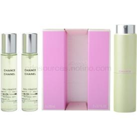 Chanel Chance Eau Fraîche toaletná voda (1x plniteľná + 2x náplň) pre ženy 3x20 ml