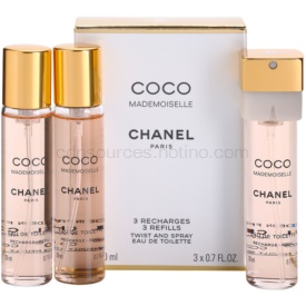 Chanel Coco Mademoiselle toaletná voda (3 x náplň) pre ženy 3x20 ml