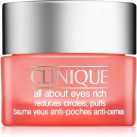 Clinique All About Eyes Rich hydratačný očný krém proti opuchom a tmavým kruhom 15 ml