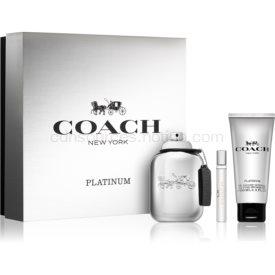 Coach Platinum darčeková sada I. parfém 100 ml + sprchový gel 100 ml + parfém 7,5 ml