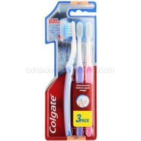 Colgate Slim Soft Ultra Compact zubné kefky soft 3 ks