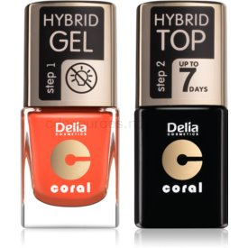 Delia Cosmetics Coral Nail Enamel Hybrid Gel kozmetická sada pre ženy