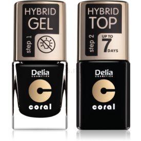 Delia Cosmetics Coral Nail Enamel Hybrid Gel kozmetická sada pre ženy odstín 26