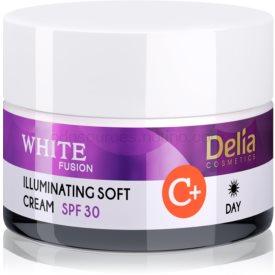 Delia Cosmetics White Fusion C+ rozjasňujúci denný krém pre pleť s hyperpigmentáciou SPF 30 50 ml