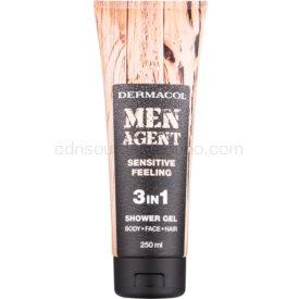 Dermacol Men Agent Sensitive Feeling sprchový gél 3v1 250 ml