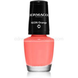 Dermacol Neon neónový lak na nechty odtieň 28 Orange 5 ml