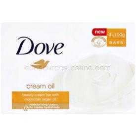 Dove Cream Oil tuhé mydlo s arganovým olejom 4x100 g