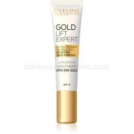Eveline Cosmetics Gold Lift Expert luxusný krém na oči a viečka s 24karátovým zlatom (SPF 8) 15 ml