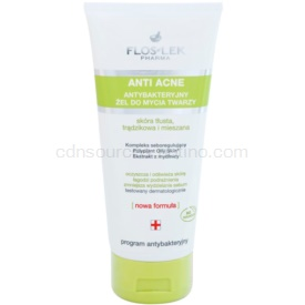 FlosLek Pharma Anti Acne čistiaci gél pre mastnú pleť so sklonom k akné 200 ml