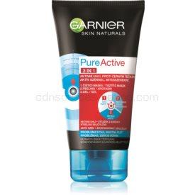 Garnier Pure Active čistiaca starostlivosť proti čiernym bodkám s aktívnym uhlím 3 v 1 pre mastnú a problematickú pleť 150 ml