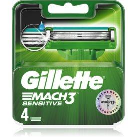 Gillette Mach3 Sensitive náhradné žiletky 4 ks