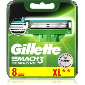 Gillette Mach 3 Sensitive náhradné žiletky 8 ks 8 ks