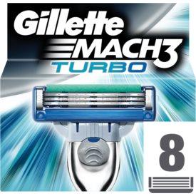 Gillette Mach 3 Turbo náhradné žiletky 8 Ks