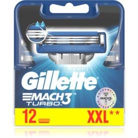 Gillette Mach3 Turbo náhradné žiletky 12 ks