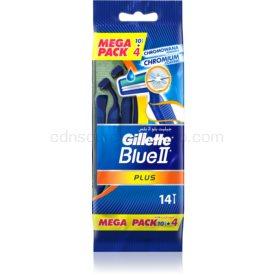Gillette Blue II Plus jednorazové žiletky 14 ks