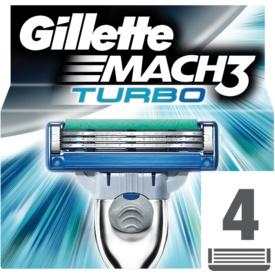 Gillette Mach 3 Turbo náhradné žiletky 4 Ks