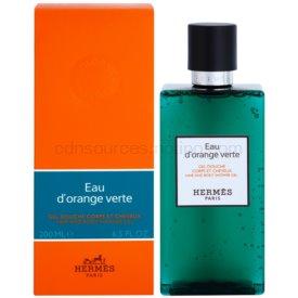 Hermès Eau d'Orange Verte sprchový gél na vlasy a telo unisex 200 ml