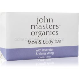 John Masters Organics Lavender & Ylang Ylang hydratačné mydlo na tvár a telo 128 g