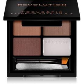 Makeup Revolution Focus & Fix sada pre dokonalé obočie odtieň Medium Dark 4 g