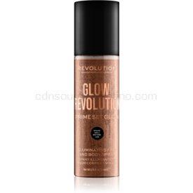 Makeup Revolution Glow Revolution rozjasňujúci sprej na tvár a telo odtieň Timeless Bronze 200 ml