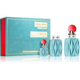 Miu Miu Miu Miu darčeková sada II. parfém 100 ml + parfém 7,5 ml + telové mlieko 100 ml