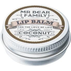 Mr Bear Family Coconut balzam na pery pre mužov 15 ml