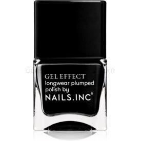 Nails Inc. Gel Effect dlhotrvajúci lak na nechty odtieň Black Taxi 14 ml